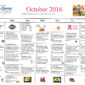 Our Calendar of Activities for October Is Here!